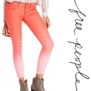 Free People Ombre' Dip Dye Skinny Jeans